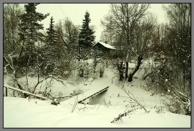 Мостик в зиму