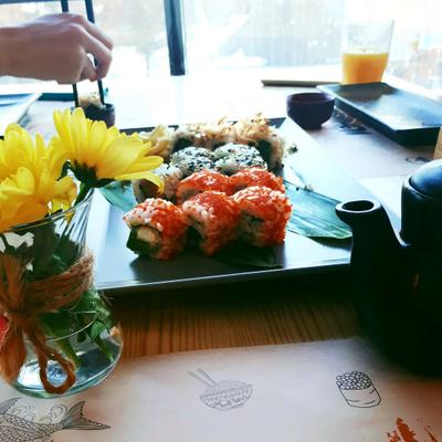 еда и я еда цветы роллы япония