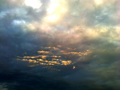 Огонь небес Небо закат облака зарево пожар пейзаж природа красота