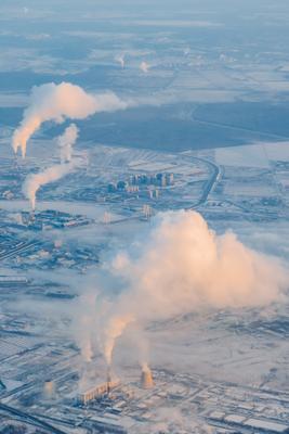 Санкт-Петербург с высоты 4 Санкт-Петербург Питер Россия солнце зима утро холодно восход облака дым самолет небо airbus airbus320 airastana