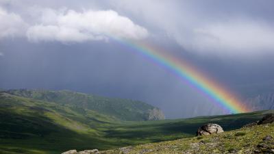 Радуга на Шокпартасе радуга природа пейзаж