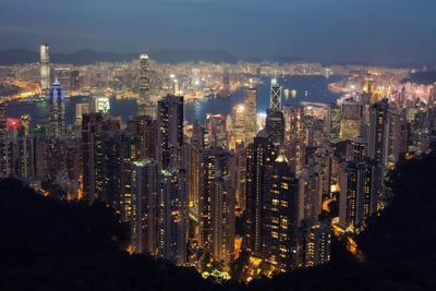 Гонконг зажигает огни гонконг