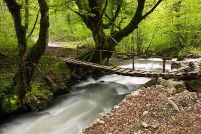 Мостик. горы река мостик