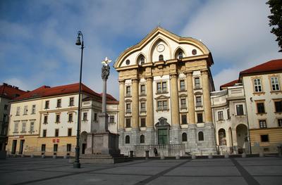 Cerkev svete Trojice Словения Slovenija Любляна Ljubljana церковь cerkev