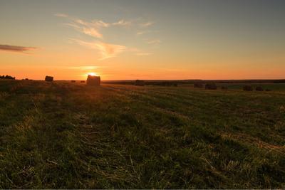 Закат в поле закат Чукша Марий Эл пейзаж лето