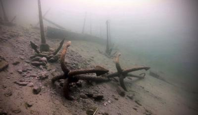 подводный музей якорей на Байкале