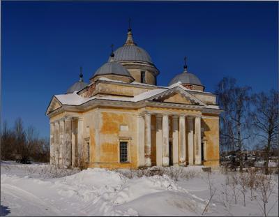 Старицкий Борисоглебский собор. Уходящая классика.... Старица, Борисоглебский собор, март