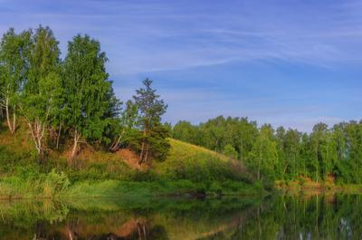 Кусочек лета Курган Курганская область Россия пейзаж природа рассвет утро