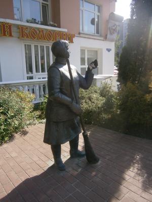 Дворник. Гомель, Белоруссия. Гомель