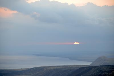 Закат на острове Гавайи закат Гавайи вулканы