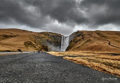 Исландия, водопад Skogafoss