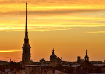 Записки из Питера... Санкт-Петербург Питер закат крыши Адмиралтейство вечер небо красота путешествие Россия