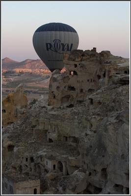 Каппадокия с высоты шарного полета.