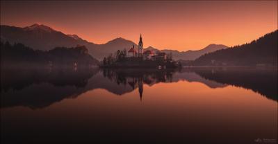 Smoke on the water .. словения блед озеро slovenia lake bled smoke water