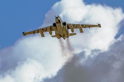 Взлёт авиабаза Кубинка Су-25 репетиция Парад