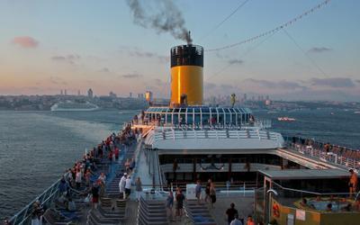 ***  Покинув берега уходим в ночь... путешествие ночь лайнер море впечатления