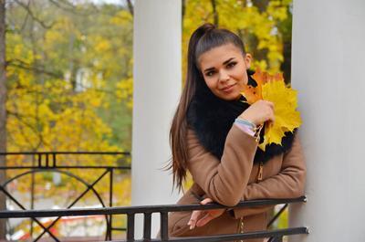 *** девушка портрет осень