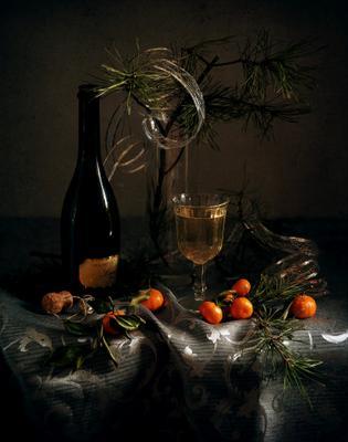 С Новым 2020 Годом! новый год мандарины ветки праздник