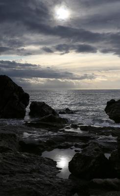 *** море закат волны облака солнце