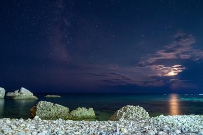 Вечер у моря черное море Луна звезды ночь лето
