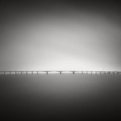 Bridge in the fog dnepropetrovsk longexposure ukraine city fog bridge