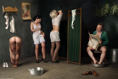 """В нашей бане """"Женский день"""" девушки обнажение арт фото-арт ню-арт баня ирония юмор стилизация"""