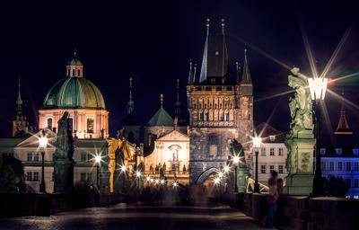 Призраки Карлового моста Прага, ночь, мост, Карлов мост