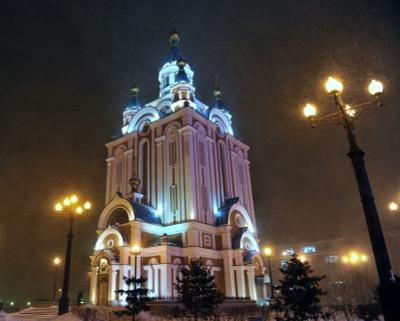 Храм храм, снег, метель, ветер, мороз