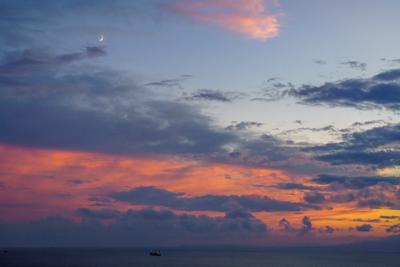 Месяц, вечер Владивосток вечер месяц закат