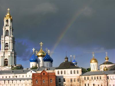 Свято-Троицкая Сергиева Лавра Свято-Троицкая Сергиева Лавра Панорама Монастырь Православие