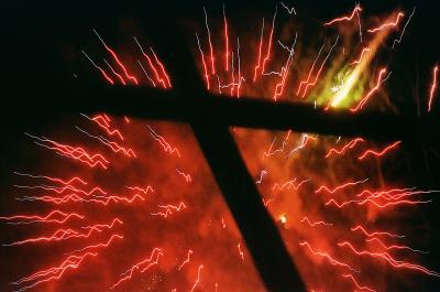 суперстара крест фейерверк