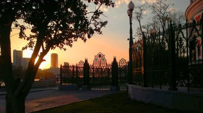 Внутренний мир города Вечер, закат, Екатеринбург