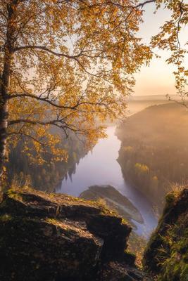 Окошко в осень Пермь Пермский край пейзаж осень лес река усьва усьвинские столбы