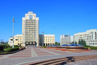 Главная площадь Минска! архитектура белоруссия город городской пейзаж лето минск небо площадь независимости