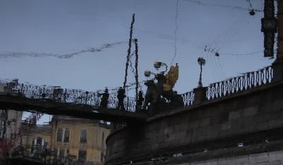 Канал Грибоедова. Банковский мост мост, отражение