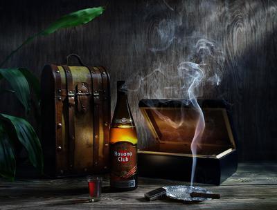 * Havana Сlub Куба ром сигары море солнце световая кисть настроение