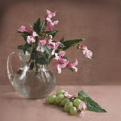 *** букет, цветы, ваза, натюрморт, бальзамин