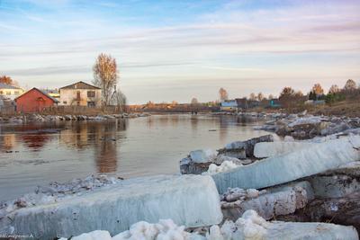 весна на реке Леденьга
