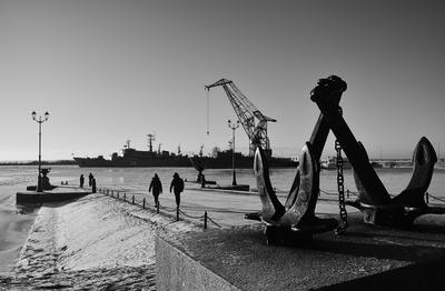 Кронштадт. Старая гавань Кронштадт Старая гавань зима