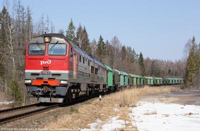 2ТЭ116УД-055 тепловоз 2ТЭ116УД грузовой поезд