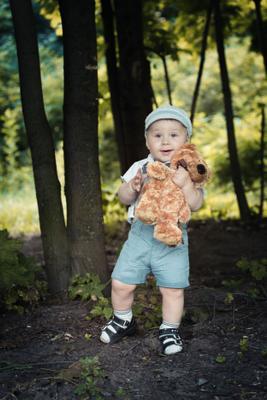 Портрет с другом Ребенок портрет игрушка хорошее настроение