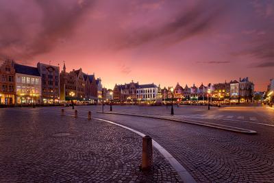 Brugge : twilight Брюгге Бельгия Brugge Belgium Markt EGRA ЕГРА