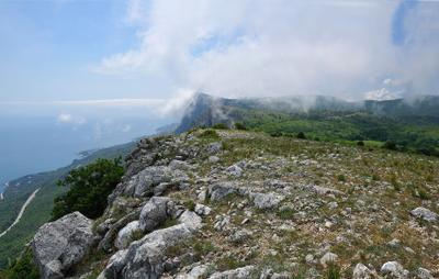 Вид С Мердвен-Кайя Крым