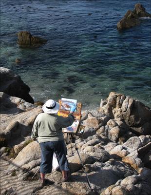 Художник, что рисует.... Monterey, CA, USA