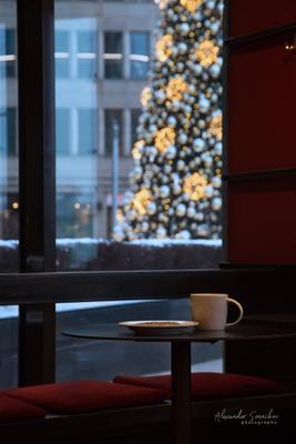 Предчувствие праздника Москва праздник Новый год кафе кофе