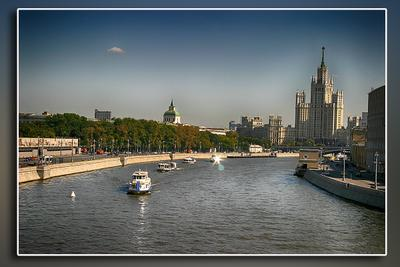 Набережная Москвы реки москва река набережная город корабли