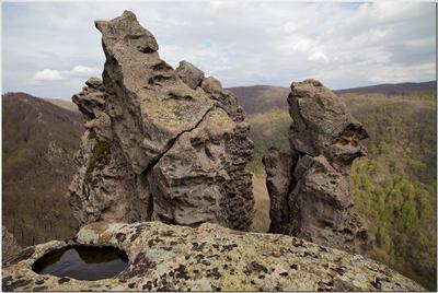 Каменные истуканы горы Индюк Кавказ, горы, скалы, останцы, истукан, Индюк