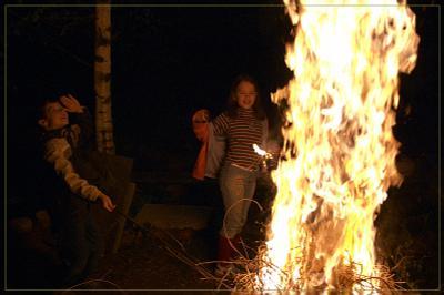 Light my fire ночь дети костер огонь