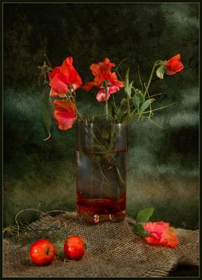 Этюд с горошком Горошек стакан райские яблочки