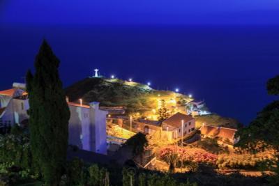 После заката. Гаражао ночь закат мадейра португалия океан